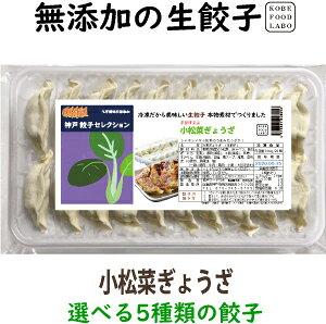 美味しい無添加冷凍生餃子小松菜ぎょうざ 20個パック誰でも簡単にパリッと焼ける焼き方案内付き他の種類と同梱のセットもできます国産の新鮮な野菜と神戸ポークを使用
