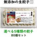 美味しい無添加餃子5種類から選べる冷凍生餃子お得な餃子4パックセット 80個4,000円 送料込み(一部地域除外)お好き…