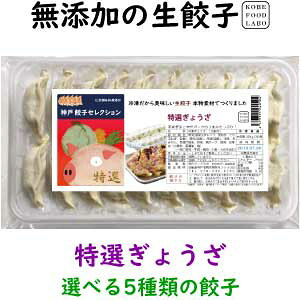 美味しい無添加冷凍生餃子特選ぎょうざ 20個パック誰でも簡単にパリッと焼ける焼き方案内付き他の種類と同梱のセットもできます国産の新鮮な野菜と神戸の美味しい豚肉を使用していま