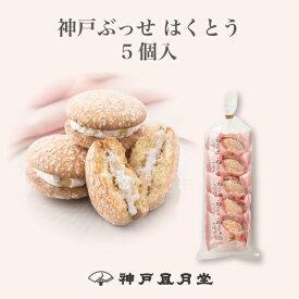 神戸ぶっせ 5個入 はくとう 贈り物 ギフト プチギフト お菓子 お土産 神戸 風月堂 神戸風月堂