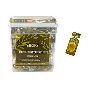 オリーブオイル 100個 エクストラバージン コストコ 個包装 バケツ ケース アルカラ オリーバ  minioliva 小分け ポーション