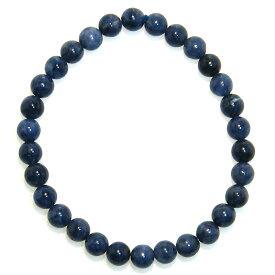 AA サファイア 6mm ブレスレット 【15cm 16.5cm 18cm 20cm】【9月 誕生石】Sapphire 数珠 天然石 パワーストーン レディース メンズ アクセサリー