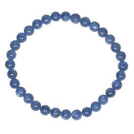 AAAグレード 印象的なブルー カイヤナイト 6mm ブレスレット【15cm 16.5cm 18cm】【10月 誕生石】藍晶石 ポジティブ 清純 純粋 天然石 数珠 アクセサリー