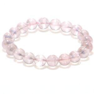 【4月誕生石】ピンクの妖精♪ローズクォーツオーラ 10mm ブレスレット