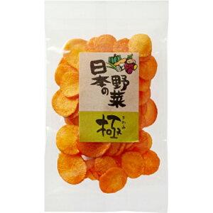 自家製・オール国産・特選野菜チップス「日本の野菜 極・にんじんチップス(22g)」【ヨコノ食品】