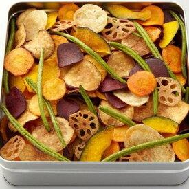自家製の国産野菜チップス・無添加・ギフト・お中元・お歳暮・お祝・お返し「日本の野菜・極(缶)300g」【ヨコノ食品】