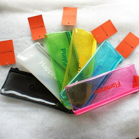 クリアカラーペンケース 500134DELFONICS デルフォニックス透明な筆入れ・筆箱・Pencil case【追跡可能メール便可】