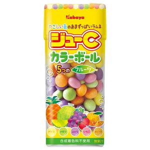 【本日楽天ポイント5倍相当】カバヤ食品株式会社ジューCカラーボール フルーツ(35g)×10個セット