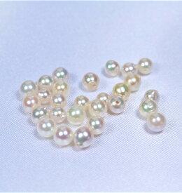 真珠量り売り!日本産あこや真珠ルース(片穴):4ミリ珠 (あこや真珠ルース、アコヤ真珠ルース、手芸用ルース、パールルース、ルース、パール、真珠ルース)