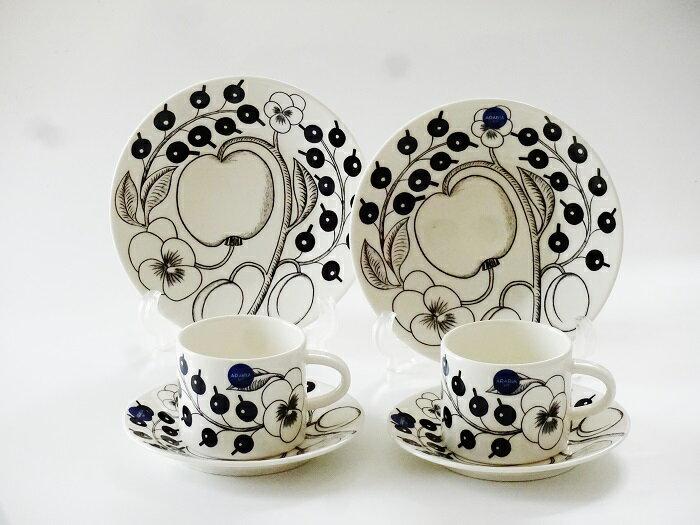 アラビア ブラックパラティッシ コーヒーカップセット ペア