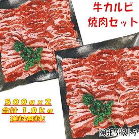 焼き肉 バーベキュー 食材 BBQ 肉 焼肉セット 牛カルビ 牛バラ バーベキュー 肉 バーベキューセット 食材 BBQ食材セット BBQ 食材 焼肉 牛丼 牛肉 1kg 送料無料 4〜6人前
