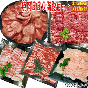 牛タン 塩タン 薄切り 焼き肉 バーベキュー 食材 BBQ 肉 焼肉セット 牛カルビ 牛バラ 牛ハラミ 豚カルビ 豚バラ 豚トロ バーベキュー 肉 BBQ食材セット BBQ 食材 焼肉 豚肉 牛丼 牛肉 3.5kg 送料無