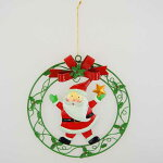 【在庫処分お宝セール】ブリキクリスマスリースサンタ【クリスマスハンギング/クリスマス雑貨】