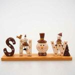 【在庫処分お宝セール】ウッドクリスマスブーツスタンドレッド【クリスマス雑貨/クリスマス置物】