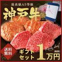 神戸牛ギフトセット 1万円ステーキ・ハンバーグコース(ランプステーキ100g×3枚・ハンバーグ150g×4個)