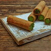 Matcha papyrrole gift box with wrapper including Matcha green tea cream paper Papyrus-Matcha suites gaufrette cream roll matcha baked confectionery gifts