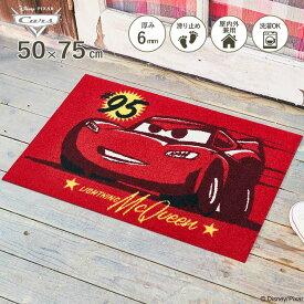 Disney Mat Collection ディズニー 玄関マット Cars/カーズ マックイーン 50 × 75 cm | 屋外 外 レッド 洗える 丸洗い 薄型 おしゃれ かわいい ずれない 滑り止め エントランスマット ドアマット 国産 日本製 クリーンテックス Kleen-Tex