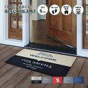 玄関マット WELCOME MAT 60×90cm | 屋外 室内 屋内 洗える 薄型 滑り止め 店舗 おしゃれ ウェルカム ドアマット いら…