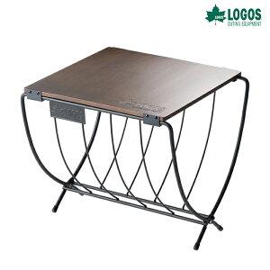 ロゴス ワイド薪ラックウッドテーブル 81064183