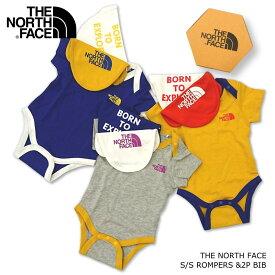 ノースフェイス THE NORTH FACE NTB11969 ショートスリーブロンパース&2Pビブ S/S ROMPER &2P BIB ベビー プレゼント ギフト 出産祝い 赤ちゃん ウエア ベビー服 お祝い