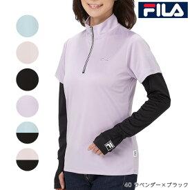 フィラ(FILA) 半袖ハーフジップポロシャツ アームカバー付 FL8835
