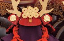 【送料無料】【2018新作五月人形】五月人形五月節句飾り忠保作兜飾り収納飾り真田幸村兜飾り10号(戦国武将・真田幸村)(紅塗台屏風)(収納型・収納タイプ)