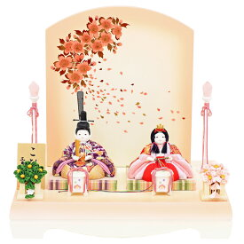 雛人形 おしゃれ 雛人形 コンパクト こひな親王飾り 木目込みひな人形 木目込み雛人形 桃姫(姫さくら)シリーズ古典花々(赤紫) 人形工房天祥 限定 オリジナル