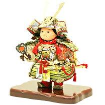 五月人形健ちゃん子供大将武者人形鎧鎧飾り甲冑飾り「人形工房天祥オリジナルすこやかシリーズ健ちゃん鎧着」お祝い人形