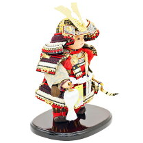 五月人形健ちゃん子供大将武者人形鎧鎧飾り甲冑飾り「人形工房天祥オリジナルすこやかシリーズ健ちゃんミニ健鎧着」お祝い人形