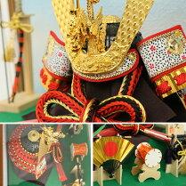 五月人形兜飾りケース飾りコンパクト6号選べる2種類健武兜お祝い端午の節句