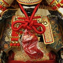 五月人形鎧飾り武田信玄公之鎧8号赤富士屏風飾り大越忠保作武将甲冑初節句お祝い端午の節句こどもの日