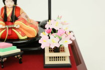 雛人形ひな人形木目込み雛人形久月ケース入りほのかコンパクトかわいいケース飾り親王飾り初節句お祝いひな祭り