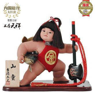 """可能娃娃嘉矩兒童一般飾品武士娃娃的孩子一般的娃娃,耀德太鼓作慶祝活動可能的案例案例裝飾玩偶娃娃欽太郎娃娃""""欽太郎號 10 山 doyusha ' (帶玻璃)"""