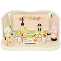 雛人形コンパクトひな人形雛人形木目込み人形こひな桜扇(白木)シリーズ木目込み雛人形正絹おしゃれひな人形かわいい雛人形おしゃれインテリアお雛様