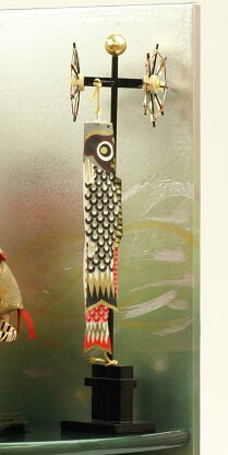 最大ポイント19倍スマホエントリーで!五月人形兜子供大将飾り武者人形子供の日端午の節句5月人形陣羽織送料無料人形工房天祥オリジナル健ちゃんシリーズ「ミニ健(陣羽織立姿)」(正絹糸縅仕立)(コイノボリ飾り付)3days人形広場