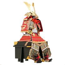 五月人形鎧鎧飾り甲冑飾り人形工房天祥限定オリジナル「鎧13号奉納鎧竹に雀虎(正絹赤糸縅・剥ぎ合せ鉢)・単品」