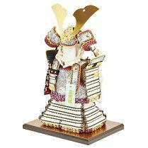 五月人形コンパクトな鎧飾り奉納鎧鎧鎧飾り甲冑飾り人形工房天祥限定オリジナル「コンパクトな鎧飾り鎧5号奉納鎧天勢(黒小札正絹白糸縅)」