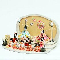 【2018年新作雛人形】雛人形ひな人形こひなマリ桜十人飾り人形工房天祥オリジナル