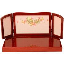 雛人形親王飾り小芥子親王マリさくら刺繍(赤)雛人形コンパクト雛人形木目込みお雛様ミニ