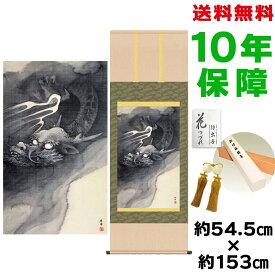 掛け軸 モダン おしゃれ 龍図 円山応挙 洛彩緞子本表装 幅54.5×高さ約153 新絹本