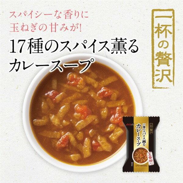 MCフーズ【一杯の贅沢 17種のスパイス薫るカレースープ】フリーズドライ×10食