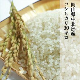 令和2年産 岡山県美咲町 こしひかり 30kg 岡山県中北部産 粘りが強い 味良し 「朝日米」のひ孫