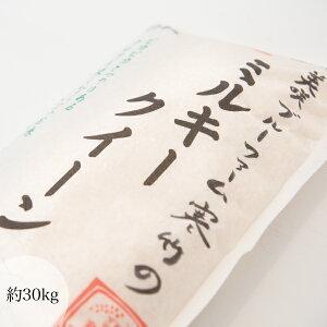 令和2年産 岡山県美咲町 ミルキークイーン 約30kg 岡山県中北部産 粘りが強い モチモチした食感