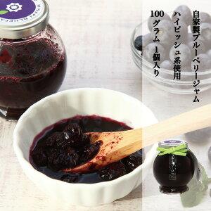 ブルーベリー 加工品 ブルーベリージャム ハイビッシュ系使用 完熟ブルーベリー使用 果肉たっぷり 自家製 手作りBLUEBERRY JAM 1個100g