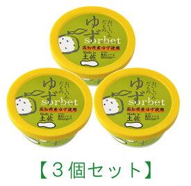 【3個セット】ゆずシャーベット3個/高知アイス【RCP】