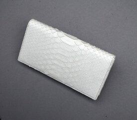 蛇革財布 メンズ 金運 長財布 白蛇 日本製 送料無料 二つ折り 2つ折り ウォレット men's 長サイフ ロングウォレット コインケース 革 皮 財布 サイフ ウオレット