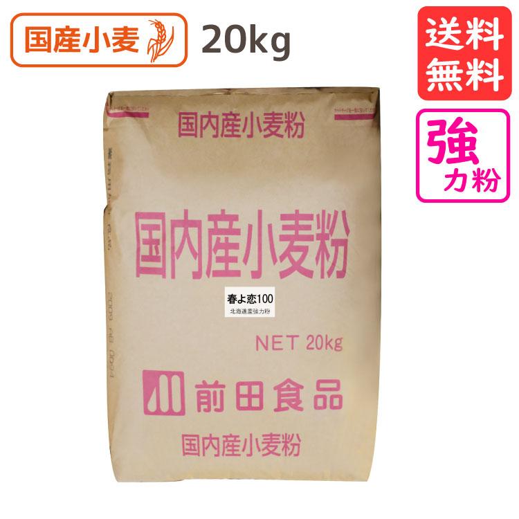 前田食品 北海道産強力粉 春よ恋100 20kg