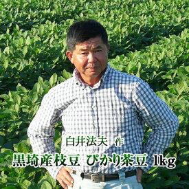 【2020年予約】新潟県産 黒埼産茶豆 ぴかり茶豆1kg箱 お中元 ギフト(生産者・白井)