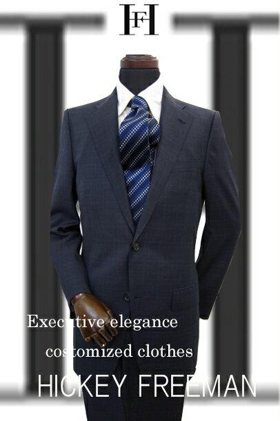 メンズ スーツ HICKEY FREEMAN ヒッキ−フリ−マン 秋冬物 ス−ツ ネイビー グレンチェック A4 A5 A6 A7 AB4 AB5 AB6