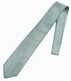 ネクタイ ミラショーン ストライプ ブランド代表柄 ブランドロゴ入り ライトグリーン お洒落 インポートネクタイ 変化柄